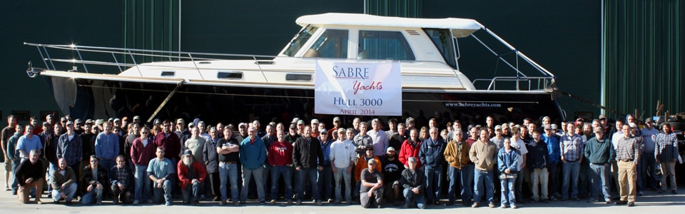 Sabre's 3000th Hull