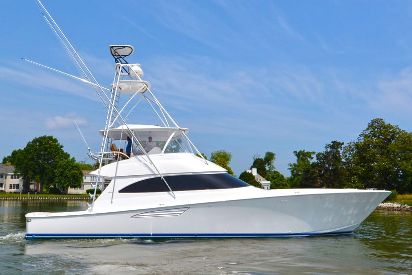 Our Viking 62 Convertible on Display During the White Marlin Open