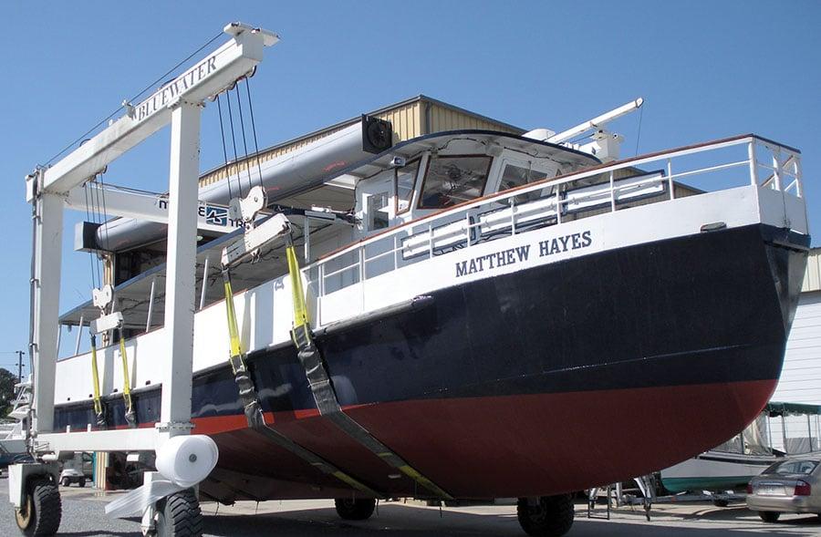 Matthew Hayes in Travelift