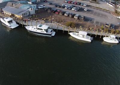 demo boats at dock