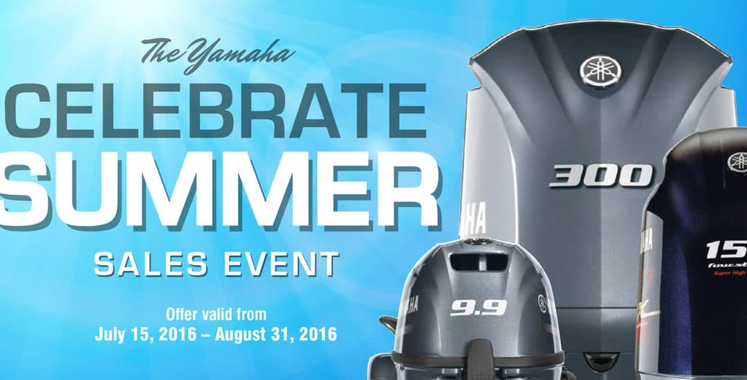 Buy Now During Yamaha's Celebrate Summer Sales Event