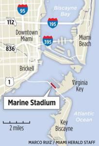 Miami Marine Stadium Map