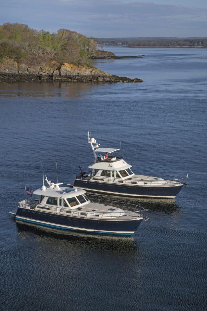 Sabre 48 Flybridge and Salon Express off Portland ME