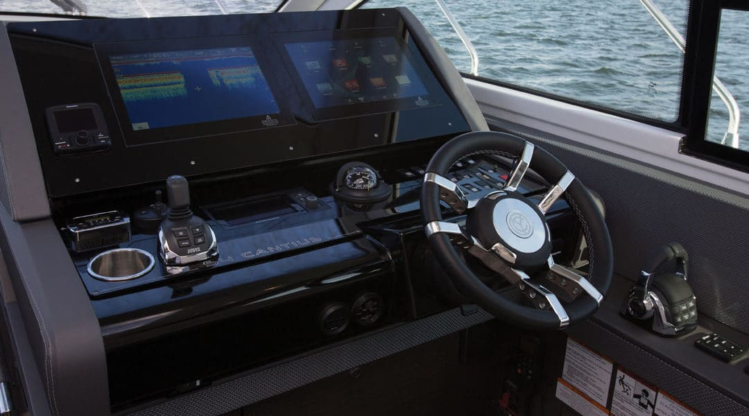 Free Volvo Penta Glass Cockpit System with any Stock Cruisers Yachts Cantius