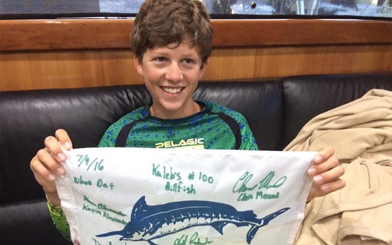 Kaleb's 100th Billfish