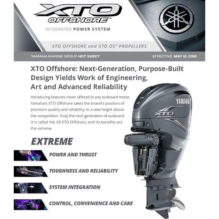 Yamaha XTO Offshore Bulletin