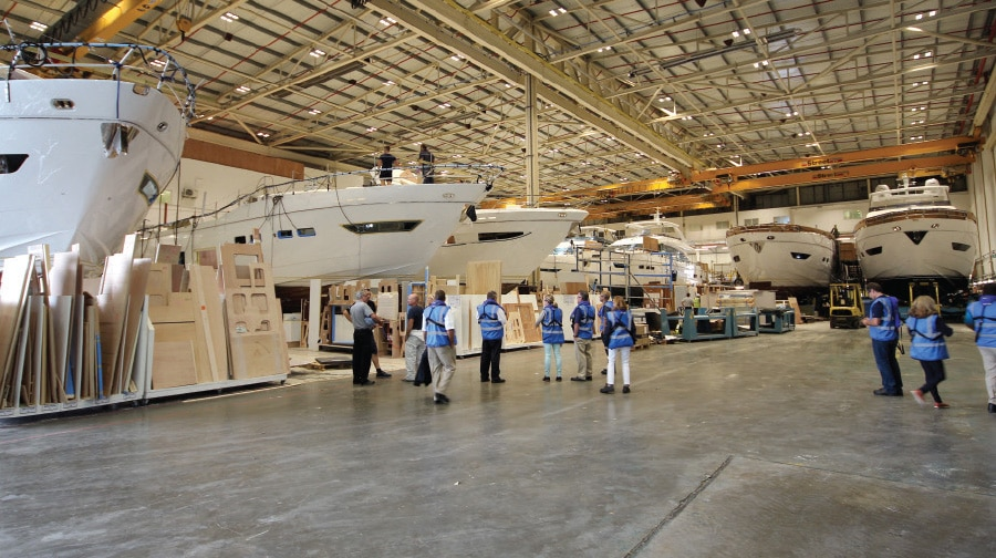 Princess Yachts' Incredible Production Capacity