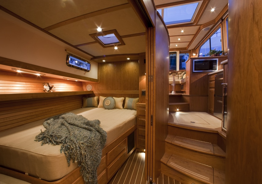 Interiors of the Sabre 40 Hard Top Express in Portland Maine
