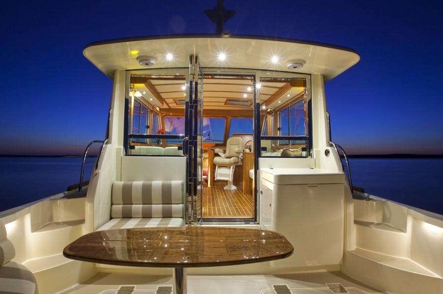Interiors onboard Sabre 42 Salon Express in Oxford, MD.