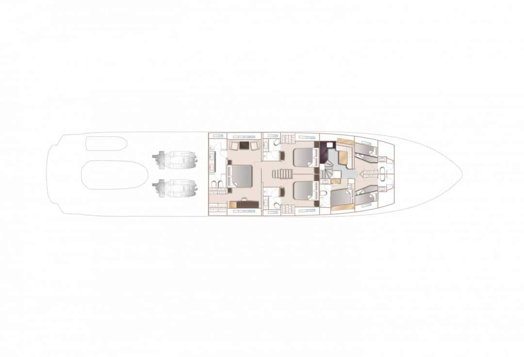 35m-layout-lower-deck-4-cabin